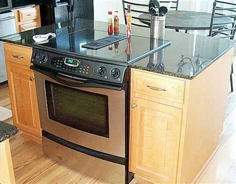 stove on kitchen island kitchen islands with slide in cooktop ovens