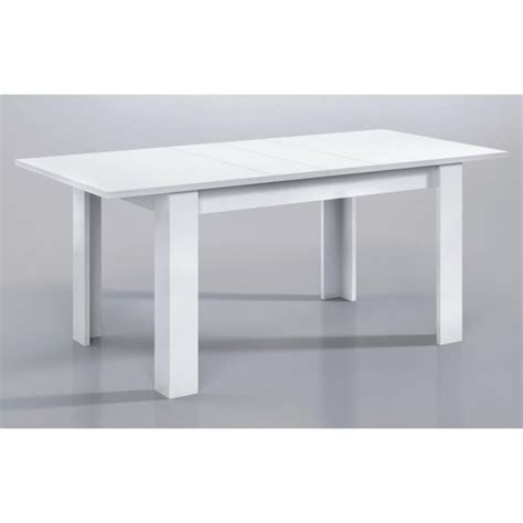 kendra table extensible 140 190cm blanc brillant achat