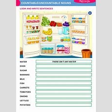 Countableuncountable Nouns  Interactive Worksheet