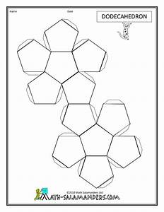 3d geometric shapes dodecahedron net tabs geometric With geometry net templates