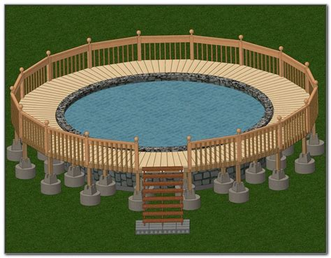 above ground oval pool deck designs decks home decorating ideas 4d5omo6pl3