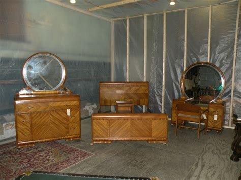 Deco Bedroom Set by Details About Waterfall Deco Antique 4 Bedroom