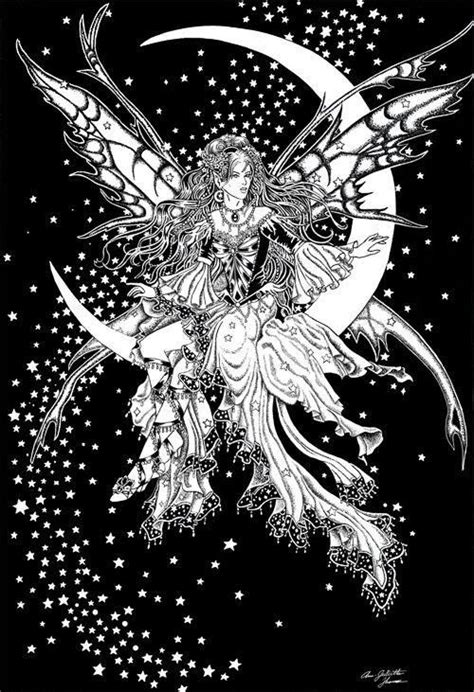 pin  myrtle penn  color pages fairy coloring pages fairy coloring moon coloring pages