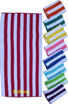 cabana striped colored beach towel pool  beach side