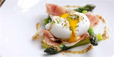 vegetarian canapes easy poached duck egg with asparagus dressing great