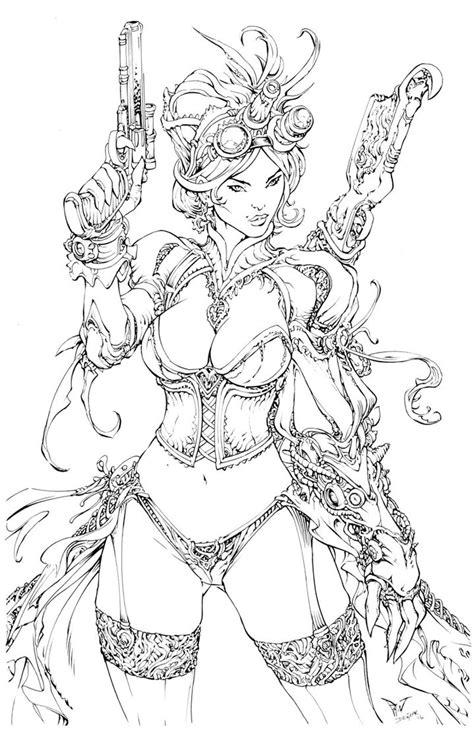 Lady Mechanika Inks by devgear on DeviantArt