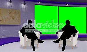 Talkshow 016 TV Studio Set-Virtual Green Screen Background ...