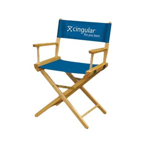 director chair with perma logo printed graphic