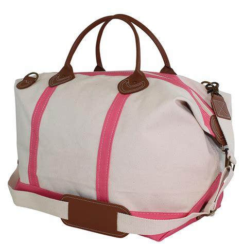 overnight weekender bag  women coral pink