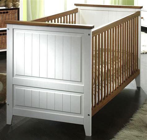 Massivholz Babybett Kinderbett Juniorbett Weiß Honig