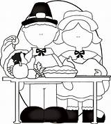 Thanksgiving Coloring Feast Freecraftz Pilgrims Pages sketch template