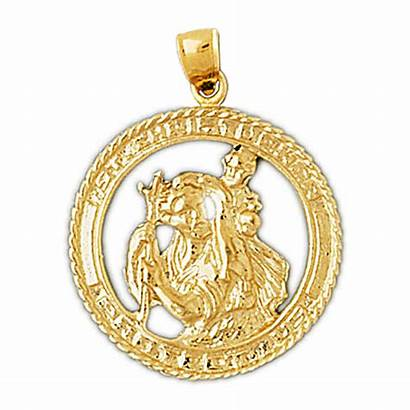 Gold 14k Medallion Christopher St