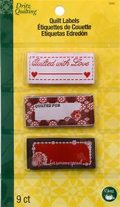dritz sew in embroidered labels quilted w love jo ann With embroidered labels for crafts