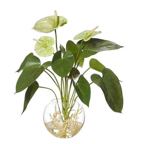 freedom rogue artificial anthurium plant  vase green