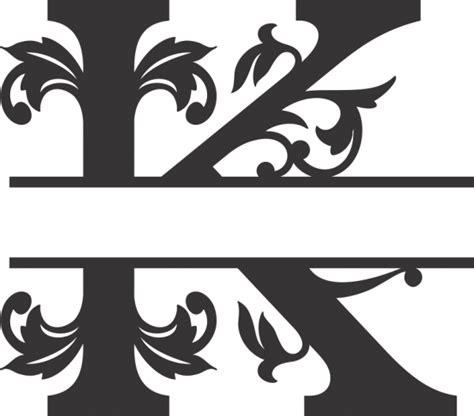 regal split letter monogram sea biscuit metal designs