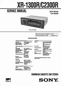 Sony Xr-1300r  Xr-2300r  Xr-c2300r Service Manual