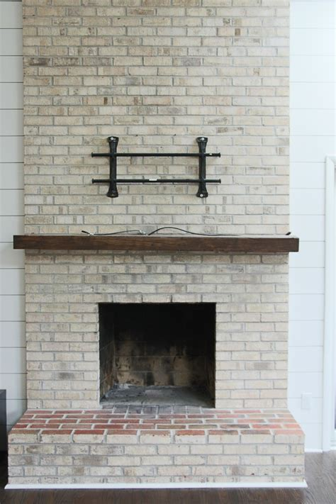 whitewash brick fireplace how to whitewash your brick fireplace with milk paint