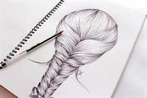 How to Draw Step by Step Hair Braids