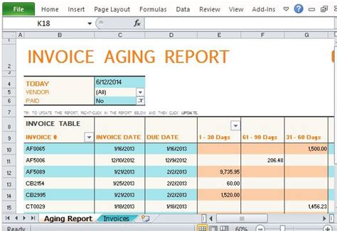 track accounts receivable  invoice aging report