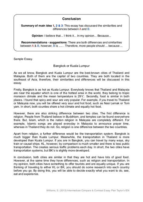 examples  comparison  contrast essays topics