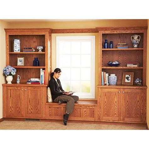 built  bookcase  cabinet plan