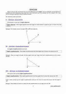 Controle Technique Les Angles : angles cours pdf imprimer maths 5 me ~ Gottalentnigeria.com Avis de Voitures