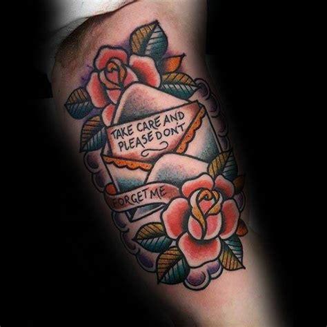 envelope tattoo designs  men mail ink ideas