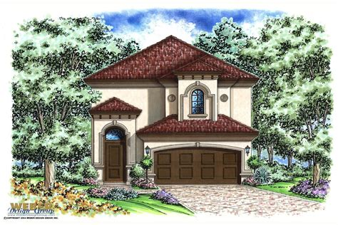 Florida Mediterranean House Plans Two Story Waterfront
