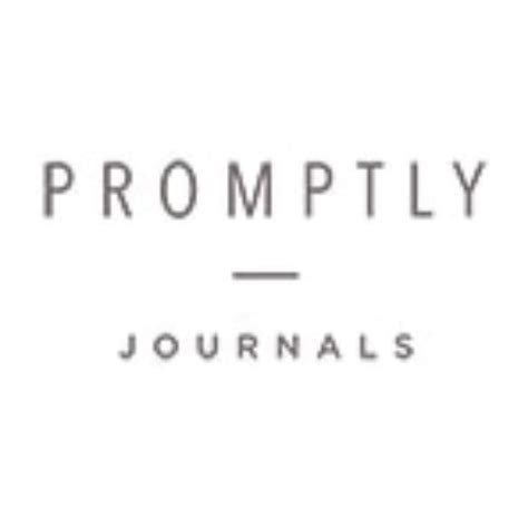 Promptly Journals Promo Code   30% Off in February 2021
