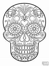 Mandala Skull Coloring Sugar Getcolorings Printable Fascinating sketch template