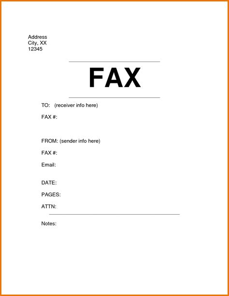 Fax Template Sle Fax Cover Sheet Staruptalent