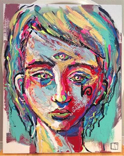 Acid Acrylic Ojo Psychedelic Tercer Artists Defectos