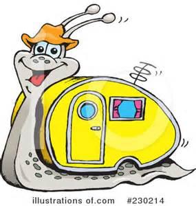 RV Camping Cartoon Clip Art