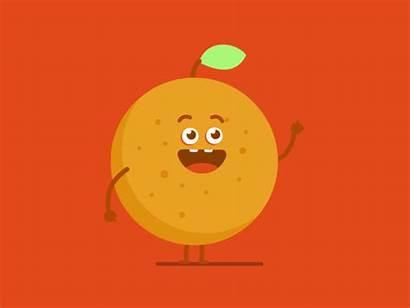 Orange Gifs Animation Fruit Fruits Animated Sticker