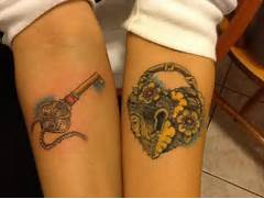 Matching Lock And Key Tattoo Designs Lock and key tattoo design  Lock And Key Matching Tattoo Designs