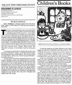 The New York Times Book Review Of Grandma U2019s Latkes  U2013 Malka