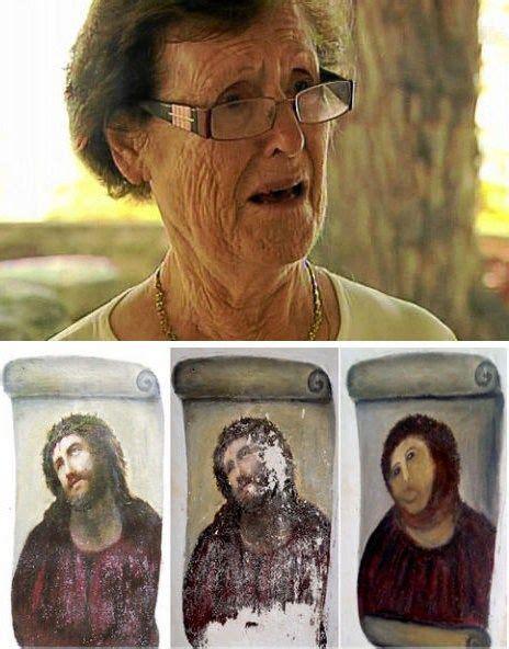 Potato Jesus Meme - potato jesus follow up of the day sad news out of spain cecilia gimenez the 81 year old who
