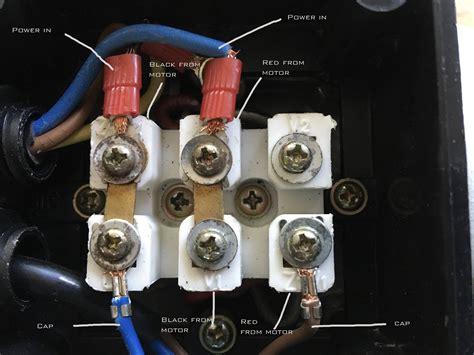 Single Phase Motor Wiring Help Machinery General