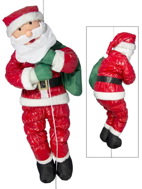 large hanging padded santa outdoor decoration 1 2m
