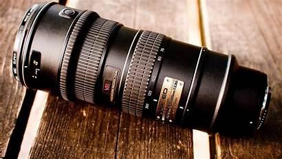 Lens Camera Nikon Wood Brand Closeup Surface