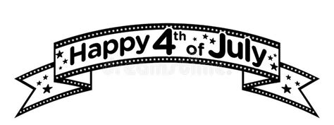 july black and white happy 4th of july banner vector stock vector