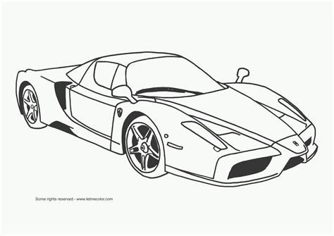 Autos Free Coloring Pages