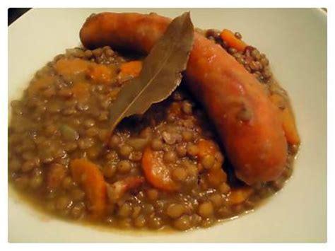 cuisine kitchenette recette de saucisses aux lentilles