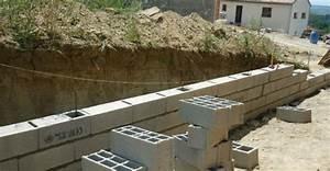 Fondation Mur Parpaing : fondation pour muret en parpaing beautiful un coffrage ~ Premium-room.com Idées de Décoration