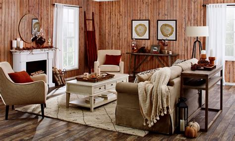 rustic fall living room      year