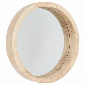 Rond En Bois : miroir rond bois scandinave 30cm naturel ~ Teatrodelosmanantiales.com Idées de Décoration