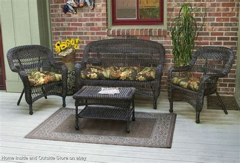 4 pc all weather resin wicker tortuga outdoor patio