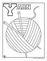 Letter Coloring Worksheets Crafts Activities Yarn Alphabet Woojr Preschool Week Letters sketch template