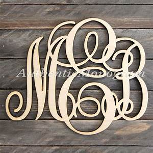 custom three letter swirly script wooden With wooden monogram letters wholesale