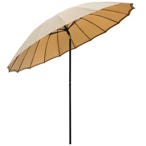 Tilting Patio Umbrella Uk by New 2 5m Tilting Shanghai Parasol Umbrella Sun Shade For